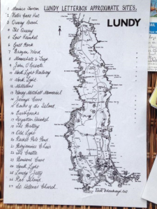 lundy letterbox map