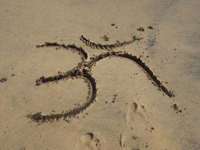Om on the beach