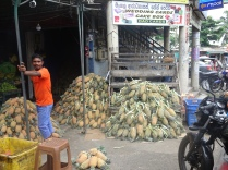 Pineapple shop in Galle