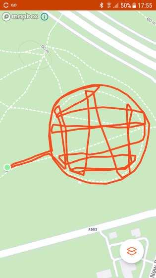 Strava Art racquet